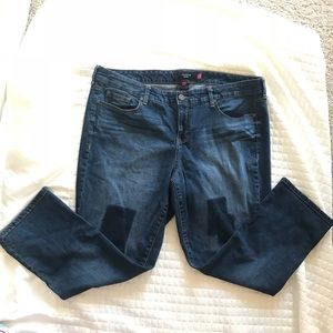 TORRID Plus Size 22 Patches Skinny Ankle Jeans
